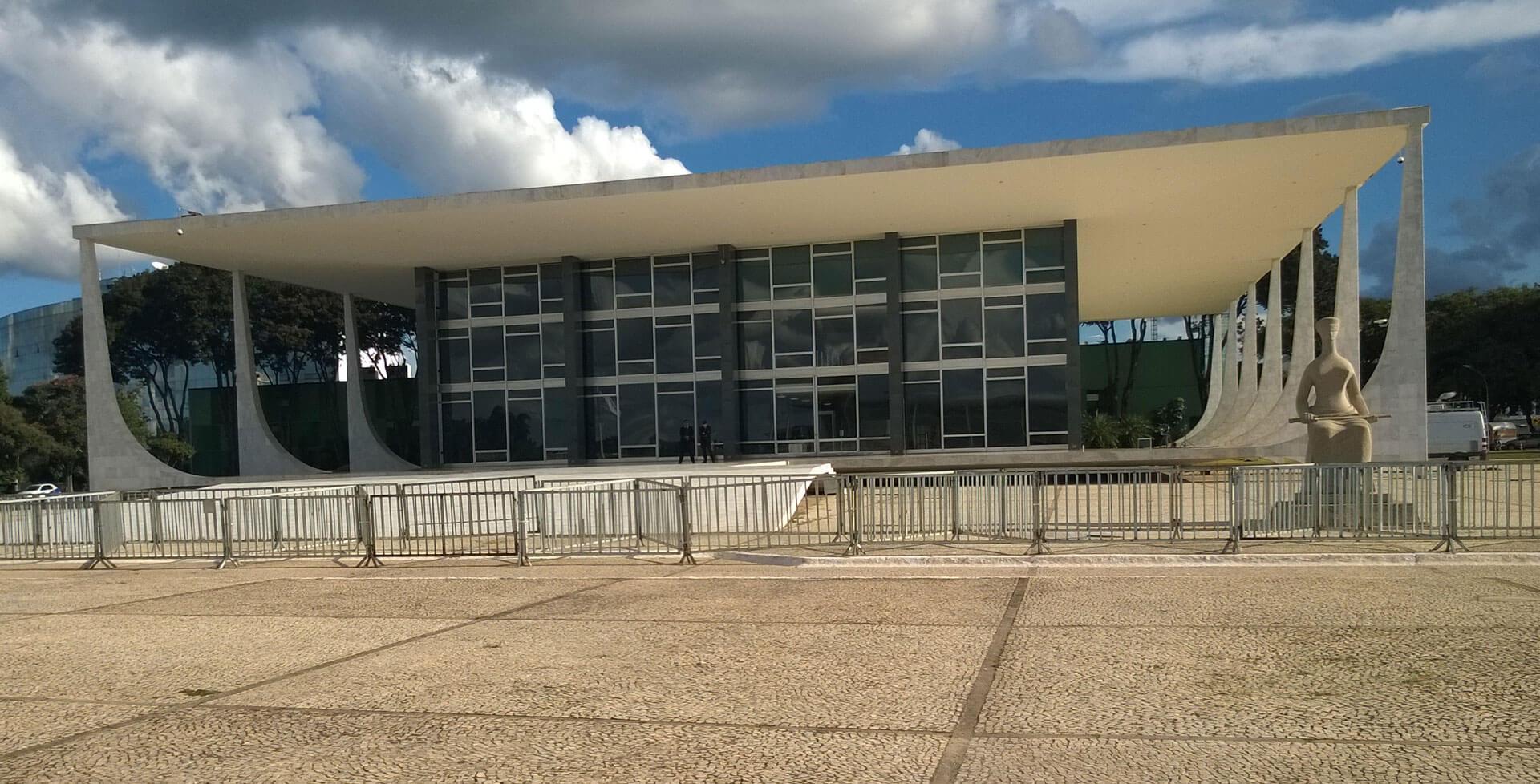 Das Gebäude des Obersten Gerichtshofs STF