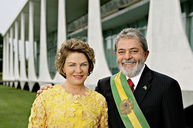 Präsident Luis Inacio Lula da Silva und seine Frau Marisa Leticia 2007